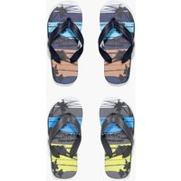 Palm Print Two Pack Flip Flop - multi