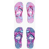 Heart Print Two Pack Flip Flop - pink