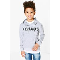 Chaos Slogan Sweat Top - grey