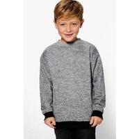 Longline Knitted Sweat - grey