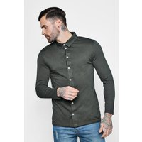 Long Sleeve Jersey Shirt - khaki