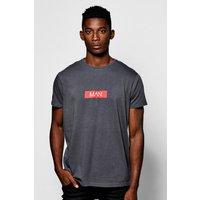 Print T-Shirt - charcoal