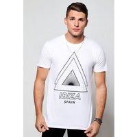 Spain Print T-Shirt - white