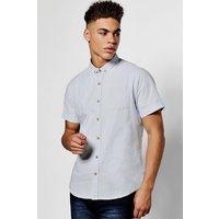 Short Sleeve Oxford Shirt - blue
