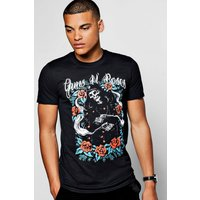 N Roses License Band T-Shirt - black