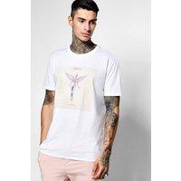 Print T-Shirt Tee - white