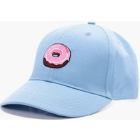 Embroidered Snapback Cap - blue