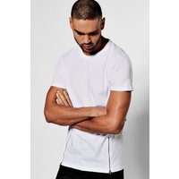 T-Shirt with Zips - white