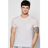 Dye Pocket T Shirt - peach