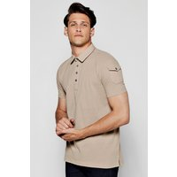 Pique Polo T-Shirt - mushroom