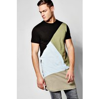Spliced T-Shirt - slate