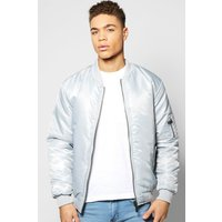 Padded MA1 Bomber - silver