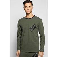 Sweatshirt with Double Zip - khaki