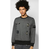MA1 Zip Sweatshirt - charcoal