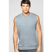 Neck Sleeveless Sweatshirt - slate