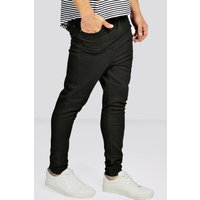 Crotch Skinny Black Jeans - black