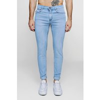 Washed Stretch Skinny Fit Jeans - blue