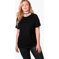 Jenna Crown On Sleeve Tee - black