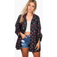 boohoo Suzanne Pineapple Print Mac - black
