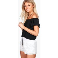 Kesha All Over Lace Short - white