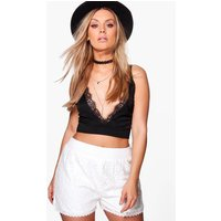 Julia All Over Lace Short - ivory