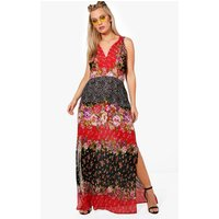 Jasmine Mixed Print Woven Maxi Dress - multi