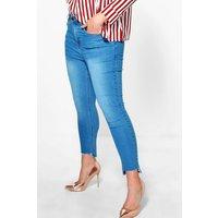 Olivia Step Hem Skinny Jean - blue