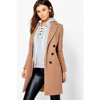 Fatih Double Breasted Camel Duster Coat - camel