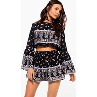 Marie Feather Short Co-ord Short - multi