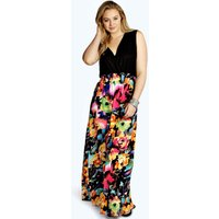 Rose Print Maxi Dress - multi