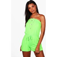 Jersey Beach Playsuit - lime
