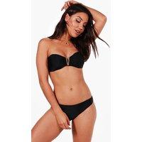 Trim Bandeau Bikini - black