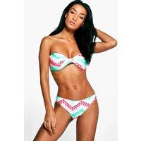 Watermelon Twist Bandeau Bikini - multi