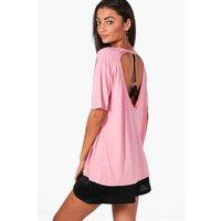 Lyra Harness Back Detail Oversized T-Shirt - rose