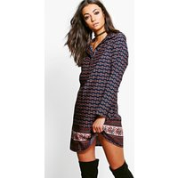 Abbi Woven Printed Shirt Dress - multi