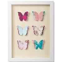 butterflies framed art