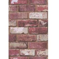 hemmingway designs  hemingway red brick wallpaper