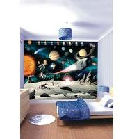 space adventure 12 panel wall mural