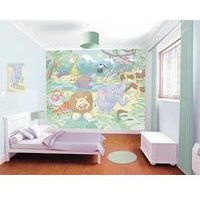 baby jungle safari 12 panel wall mural