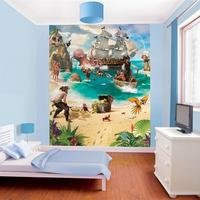 pirate and treasure adventure 8 panel wall mural