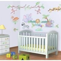 baby jungle safari room decor kit