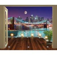 walltastic brooklyn bridge nyc 12 panel wall mural