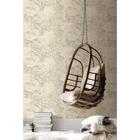 fresco map cream wallpaper