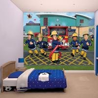 fireman sam wallpaper mural