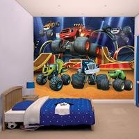 blaze and the monster machines wallpaper mural
