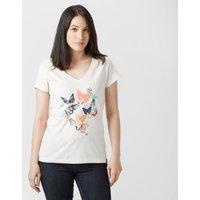 Peter Storm Womens Floral Butterfly T-Shirt, Cream