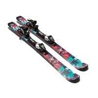 Salomon Q-Lux Jr Skis Small, Black/Green/Red