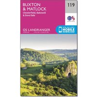 Ordnance Survey Landranger 119 Buxton, Matlock, Bakewell & Dove Dale Map With Digital Version, Orange