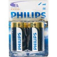 Phillips Ultra Alkaline D LR20 Batteries 2 Pack, Assorted
