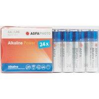 Agfa Alkaline Power AA Batteries 24 Pack, Assorted